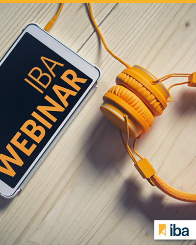 IBA Webinars Continue Without Slowing Down